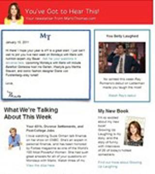 My Weekly Newsletter - Marlo Thomas