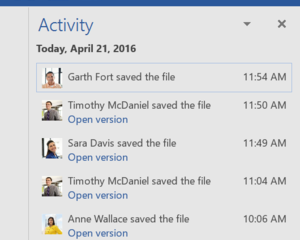 Microsoft Enhances Office 2016 collaboration with tools that track team input