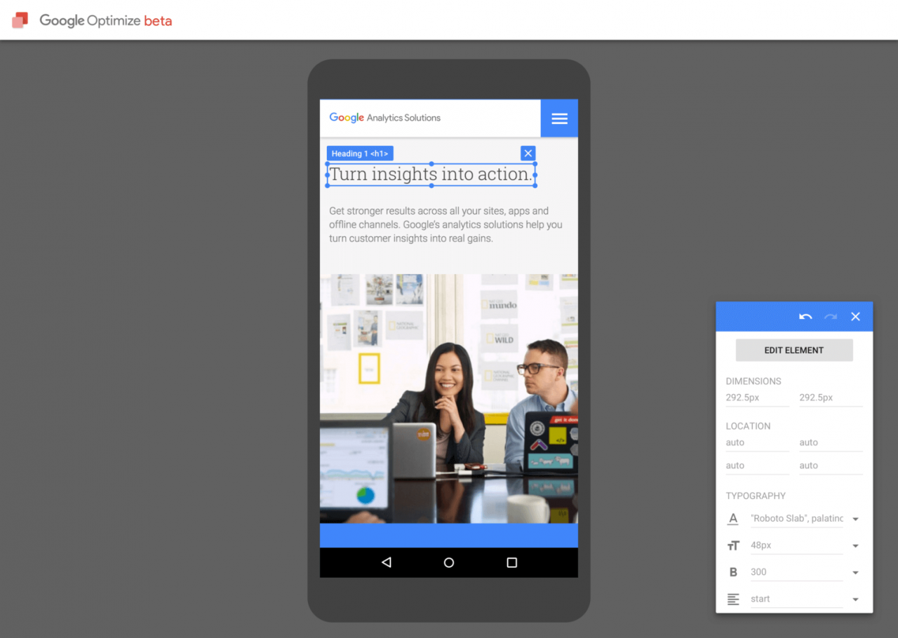 free google optimize product launch
