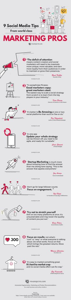 9 Social Media Tips from World-Class Marketing Pros [Infographic]