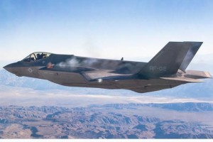 The first-ever airborne test of the U.S. Air Force's F-35Awas in the air